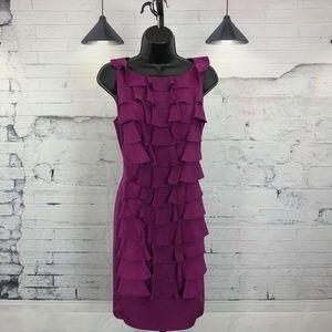 Adrianna  Papell Front Ruffle Dress Size 10